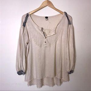FREE PEOPLE 🐚 blouse